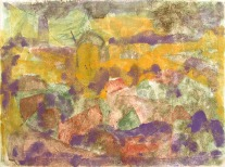 """ muro del pianto "" -2006, cm. 46x61, mixed media on wood, private collection"