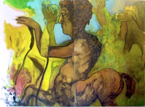 """ atteone "" 2002, oil on paper 200x150, private collection"