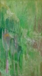 """ cervo-giaguaro "" -2006, cm 125x222, mixed on wood"