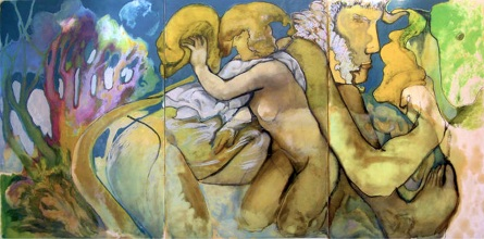 """ diana "" 2002, oil on paper 300x150 cm, private collection"