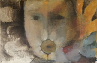 """ giacinto "" -2001, cm 100x150, oil on paper, private collection"