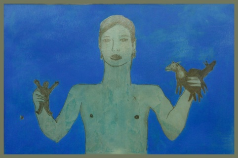 """ play "" -2009, cm 100x150, mixed media, private collection"