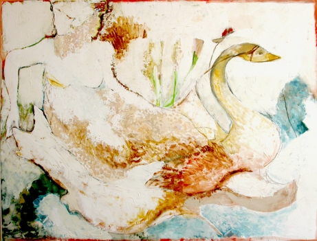 """ venere "" 2002, mixed media 200x120 cm, private collection"
