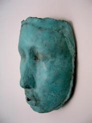 """ testa turchese "" - 2003, cm 40x20x10, brass cast, private collection"