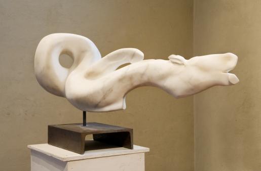 """ cavallino "" - 2008, cm 52x110x52, carrara statuary marble"