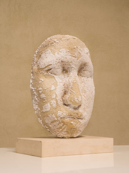 """ testa salifera "" - 2009, cm 42x30x20, plaster and salt"