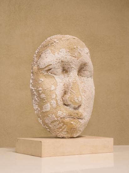 """"""" testa salifera """" - 2009, cm 42x30x20, plaster and salt"""