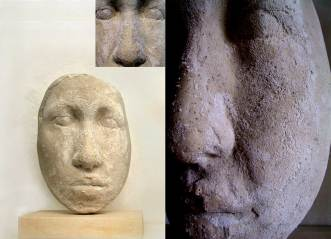 """ testa salifera"" - 2009, cm 42x30x20, plaster and salt"